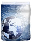 Globe With Fiber Optics Duvet Cover
