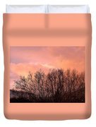 Glow Of A Winter Sunset Duvet Cover