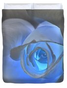 Glowing Blue Rose Duvet Cover