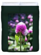 Glowing Globe Amaranth Duvet Cover
