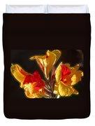 Glowing Iris Duvet Cover