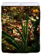 Glowing Iris Plant 3 Duvet Cover
