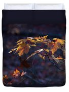 Glowing Maple Leaves Duvet Cover