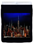 Glowing New York Duvet Cover