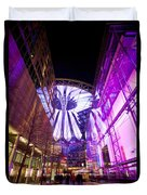 Glowing Sony Center Duvet Cover