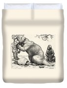 Glyptodon And Megatherium, Extinct Fauna Duvet Cover