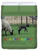 Go Outside And Play Rainbow Duvet Cover