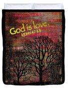 God Is Love Duvet Cover