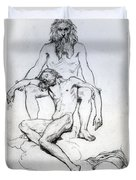 God The Father And God The Son Duvet Cover