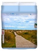 Going To The Beach Duvet Cover