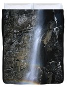 Going To The Sun Road Waterfall Duvet Cover