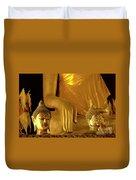 Gold Buddha Figures Duvet Cover