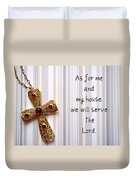 Gold Cross Duvet Cover by Cynthia Amaral