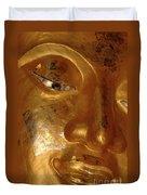 Gold Face Of Buddha Duvet Cover