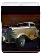 Gold Hot Rod Duvet Cover