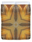 Golden Abstarct Energy Duvet Cover
