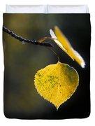 Golden Aspen Leaf Duvet Cover