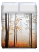 Golden Autumn Forest Duvet Cover