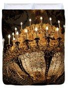 Golden Chandelier Duvet Cover