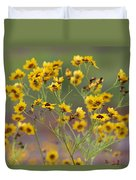 Golden Coreopsis Tickseed Wildflowers Duvet Cover