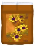 Golden Coreopsis Wildflowers  Duvet Cover