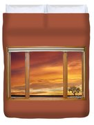 Golden Country Sunrise Window View Duvet Cover by James BO  Insogna