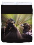 Golden Eagles Duvet Cover