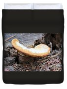 Golden Edged Mushroom Duvet Cover