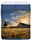 Golden Evening Duvet Cover