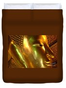 Golden Face Of Buddha Duvet Cover
