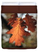 Golden Fall Leave's Close Up Duvet Cover