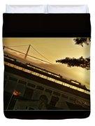 Golden Gate And Flag  Duvet Cover