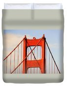 Golden Gate Bridge - Nothing Equals Its Majesty Duvet Cover