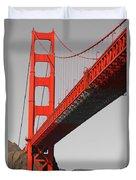 Golden Gate Bridge-touch Of Color Duvet Cover