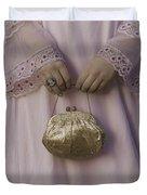 Golden Handbag Duvet Cover