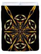 Golden Kaleidoscope Duvet Cover