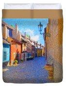 Golden Lane Duvet Cover
