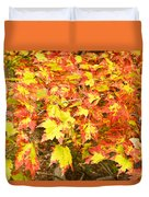 Golden Maple Leaves Duvet Cover