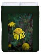 Golden Margurite Duvet Cover