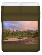 Golden Montana Mountain Duvet Cover
