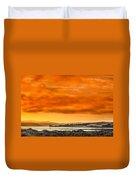 Golden Morning Over Humboldt Bay Duvet Cover