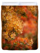 Golden Orange Radiance Duvet Cover