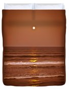 Golden Pathway To The Shore Duvet Cover