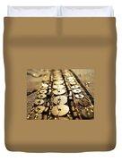 Golden Sequins Highway Duvet Cover