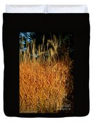 Golden Silver Grass Duvet Cover