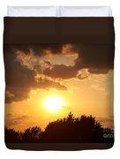 Golden Sky Over Genesee Duvet Cover