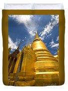 Golden Stupa In Grand Palace Bangkok Duvet Cover
