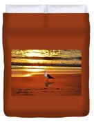 Golden Sunrise Seagull Duvet Cover