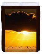 Golden Sunset On Farmland Duvet Cover