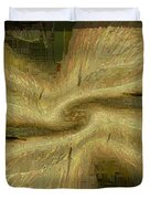 Golden Tug Of War Duvet Cover